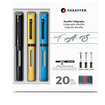 Sheaffer Calligraphy, Maxi Kit 2019, černá, žlutá, modrá - Plnicí pero