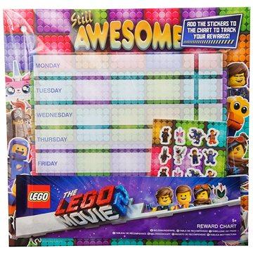 LEGO Rozvrh hodin s nálepkami - Školní pomůcka