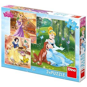 Dino Princezny: Volné odpoledne 3x55 dílků - Puzzle