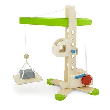 Dřevěný jeřáb - Dřevěná hračka
