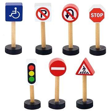 Dřevěné dopravní značky - Dřevěná hračka