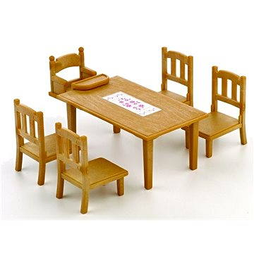 Sylvanian Families Nábytek – jídelní stůl se židlemi - Doplňky k figurkám