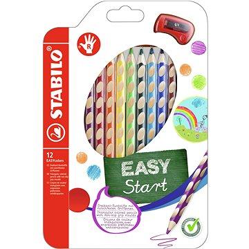 STABILO EASYcolors R pouzdro s ořezávátkem 12 barev - Pastelky