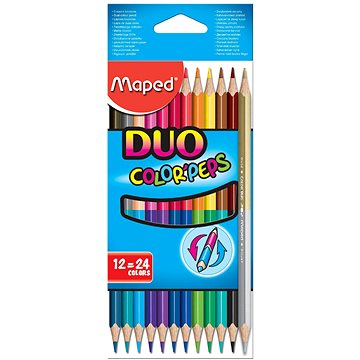 Maped Color Peps Duo, 24 barev - Pastelky