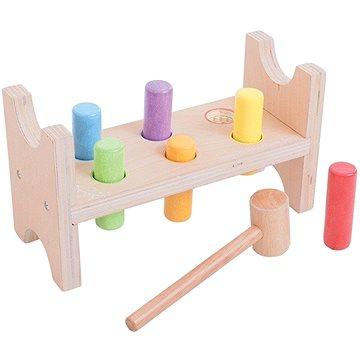 Bigjigs Dřevěná zatloukačka - Didaktická hračka