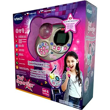 Kidi Super Star - růžová CZ verze - Mikrofon