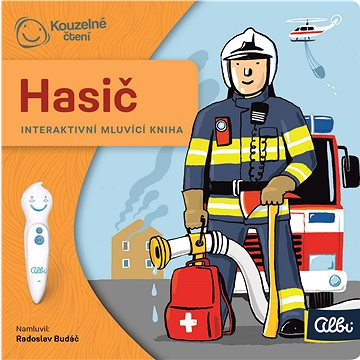 Kouzelné čtení - Hasič - minikniha - Kniha pro děti