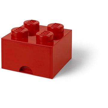 LEGO Úložný box 4 s šuplíkem - červená - Úložný box