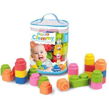Clementoni Clemmy baby - 24 kostek v plastovém pytli - Stavebnice