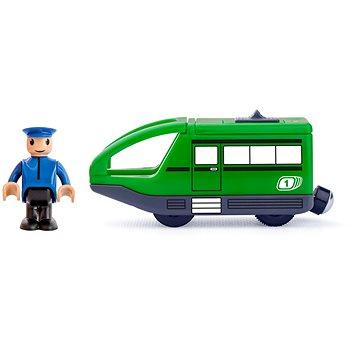 Woody Moderní elektrická mašinka - zelená - Příslušenství k vláčkodráze