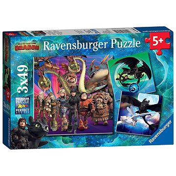 Ravensburger 080649 Jak vycvičit draka 3  - Puzzle