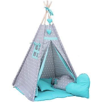 BabyTýpka teepee Stars mentol - Dětský stan