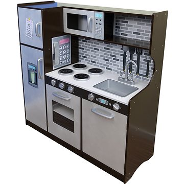 Kuchyňka s lednicí dřevěná 107x40x109 cm - Kuchyňka
