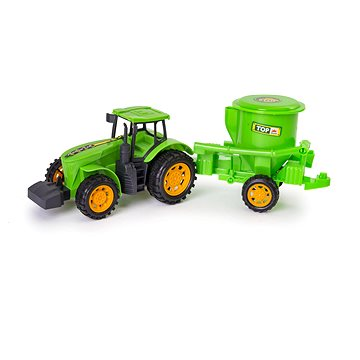 Traktor s přívěsem 41x10x11cm - Traktor
