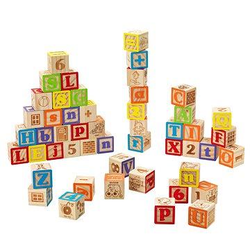 Imaginarium Kostky dřevěné s písmeny a čísly - Dřevěné kostky