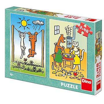Pejsek a kočička - Puzzle