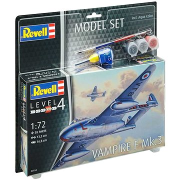 ModelSet letadlo 63934 - Vampire F Mk.3 - Model letadla