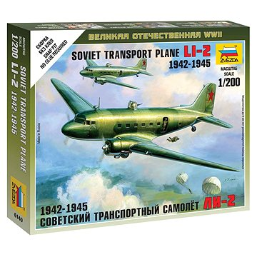Wargames (WWII) letadlo 6140 - LI-2 Soviet Transport Plane - Model letadla