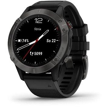 Garmin Fenix 6 Pro Sapphire Carbon Gray/Black Band - Chytré hodinky
