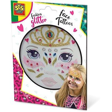 SES Třpytkové tetování na obličej - princezna - Dočasné tetování