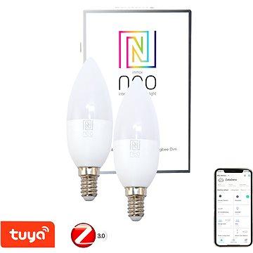 Immax Neo E14 5W teplá bílá, stmívatelná, 2ks, Zigbee 3.0 - LED žárovka