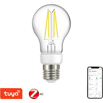 Immax Neo Filament E27 6,3W teplá bílá, stmívatelná, Zigbee 3.0 - LED žárovka