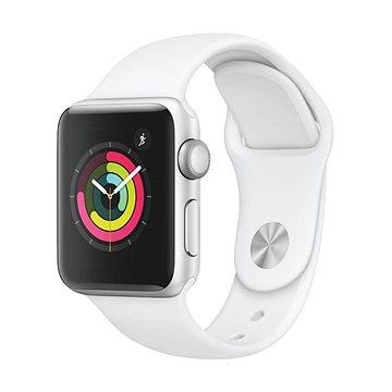 Apple Watch Series 3 38mm GPS Stříbrný hliník s bílým sportovním řemínkem - Chytré hodinky