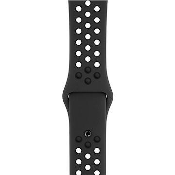 Apple Watch 44mm Antracitový/černý NikeSportBand – S/M&M/L - Řemínek