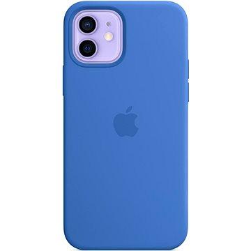 Apple iPhone 12 a 12 Pro Silikonový kryt s MagSafe středomořsky modrý - Kryt na mobil