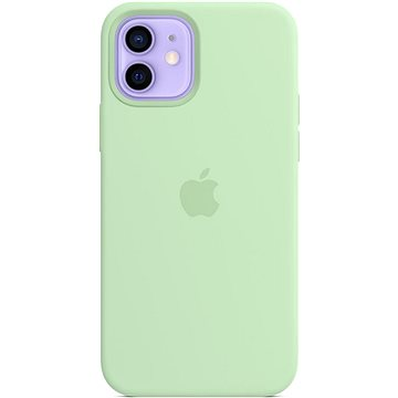 Apple iPhone 12 a 12 Pro Silikonový kryt s MagSafe pistáciový - Kryt na mobil