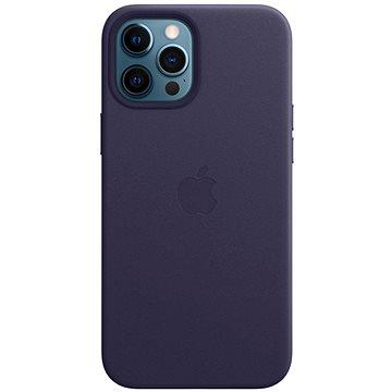 Apple iPhone 12 Pro Max Kožený kryt s MagSafe temně fialový - Kryt na mobil