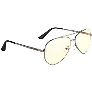 GUNNAR Maverick Gunmetal, jantarová skla - Brýle na počítač