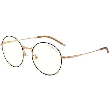 GUNNAR Ellipse Blackgold, čirá skla - Brýle na počítač