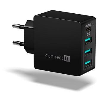 CONNECT IT Fast Charge CWC-4060-BK černá - Nabíječka do sítě
