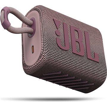 JBL GO 3 růžový - Bluetooth reproduktor
