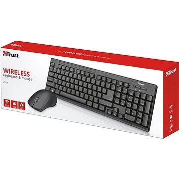 Trust Trust Ziva Wireless - CZ/SK - Set klávesnice a myši