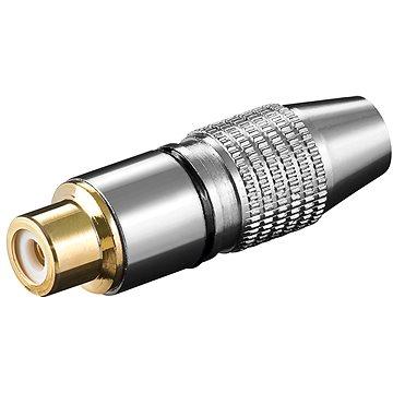 OEM Konektor cinch(F) na kabel, černý pruh, zlacený - Konektor