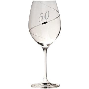 "B.BOHEMIAN Jubilejní sklenička na víno ""50"" 470 ml COSMIC 1 ks - Sklenice na červené víno"
