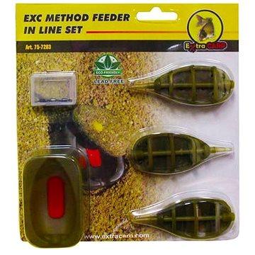 Extra Carp Method Feeder Set 20,25,30g + formička - Krmítko