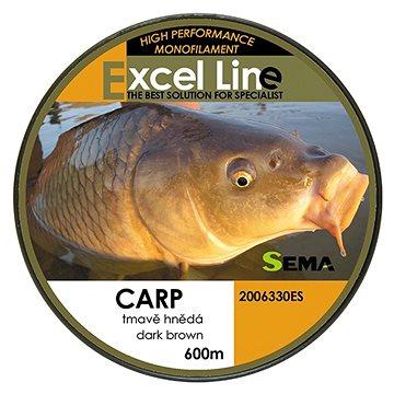 Sema Vlasec Carp Dark Brown 0,25mm 8,4kg 600m - Vlasec