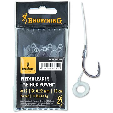 Browning Feeder Leader Method Power Pellet Band Velikost 10 0,25mm 12lbs/5,kg 10cm 6ks - Návazec