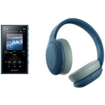 Sony MP4 16GB NW-A105L modrý + Sony Hi-Res WH-H910N modrá - Set