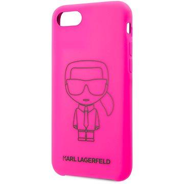 Karl Lagerfeld Ikonic pro iPhone 8/SE 2020 Pink  - Kryt na mobil