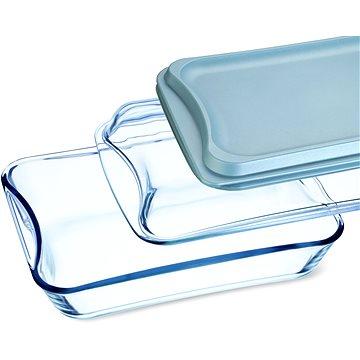 SIMAX Pekáč hranatý 2.5 l + 1.9 l víko sklo a plast - Pekáč