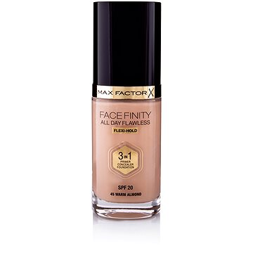 MAX FACTOR Facefinity All Day Flawless 3in1 Foundation SPF20 45 Warm Almond 30 ml - Make-up