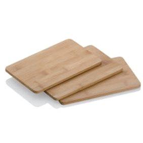 Kela Prkénko KATANA bambus 22x14x0,8cm sada 3 ks - Krájecí deska