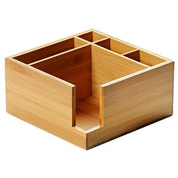 Kesper Zásobník na ubrousky a příbory bambusový - Organizér