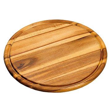 Kesper Kulaté prkénko z akátového dřeva, průměr 25 cm - Krájecí deska