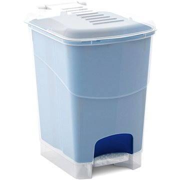KIS Koš na odpad Koral Bin S - průhledný / modrý 10l - Odpadkový koš