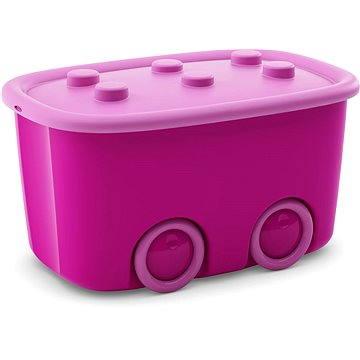 KIS Funny box L fialový 46l - Úložný box